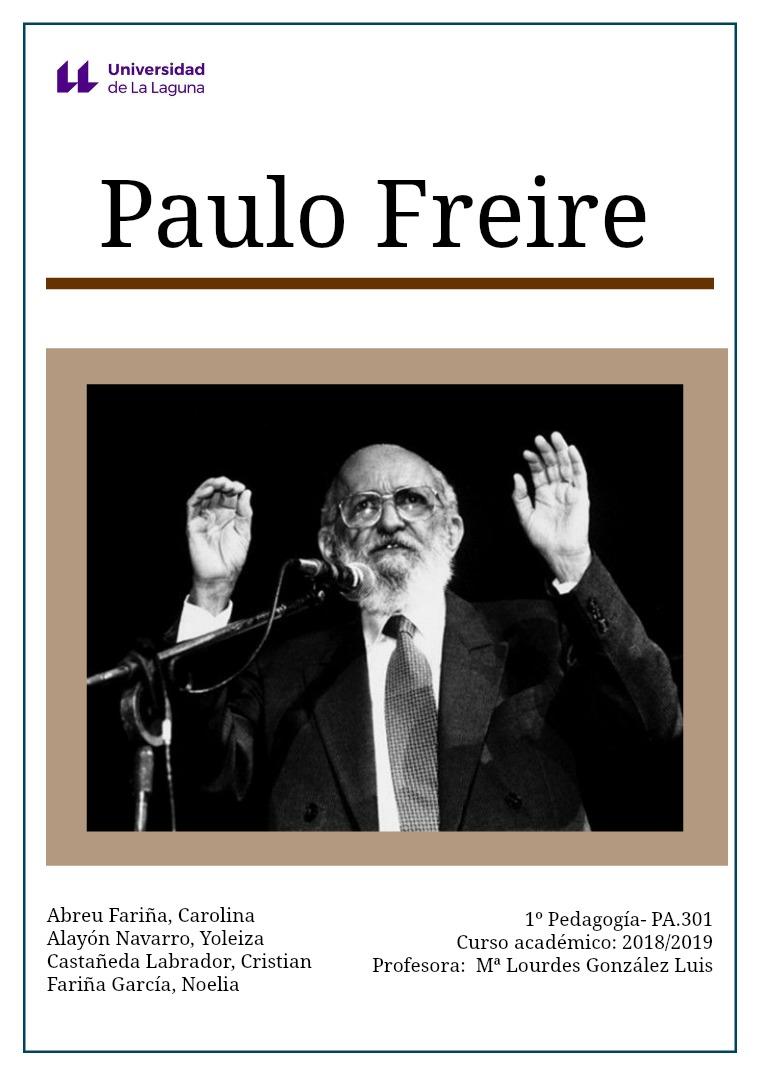 Paulo Freire Paulo Freire