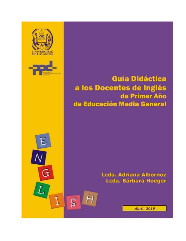 Mi primera publicacion Guia Didactica Ingles primer año EMG