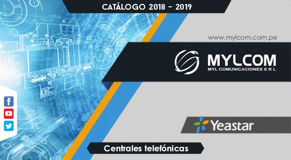 Mylcom Centrales Panasonic CATALOGO MYLCOM 2018 - 2019 (CENTRALES TELEFONICAS