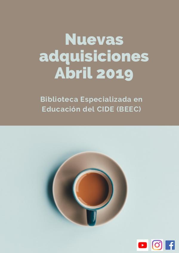 Nuevas adquisiciones abril 2019 Abril 2019