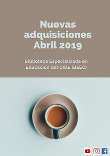 Nuevas adquisiciones abril 2019