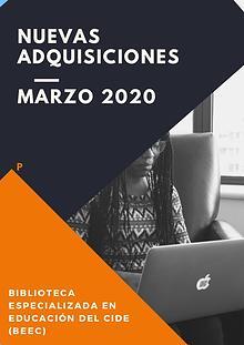 Nuevas adquisiciones - marzo 2020