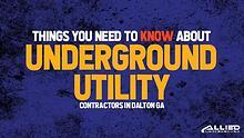 Underground Utility Contractors