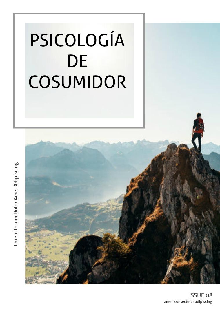 Mi primera publicacion Psicología del consumir