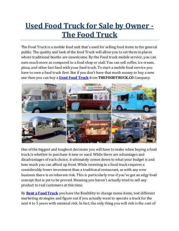 Used Food Truck for Sale by Owner - The Food Truck Used Food Truck for Sale by Owner - The Food Truck