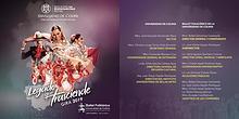 """Programa de mano Gira 2019 """"Legado que trasciende"""" - Ballet Folklóric"""
