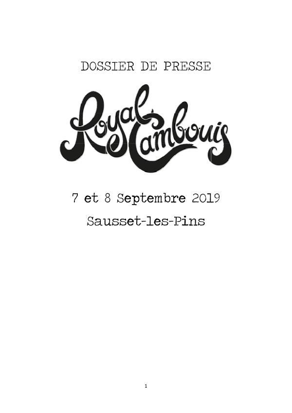 Dossier de presse Royal Cambouis DOSSIER DE PRESSE RC5 DEF