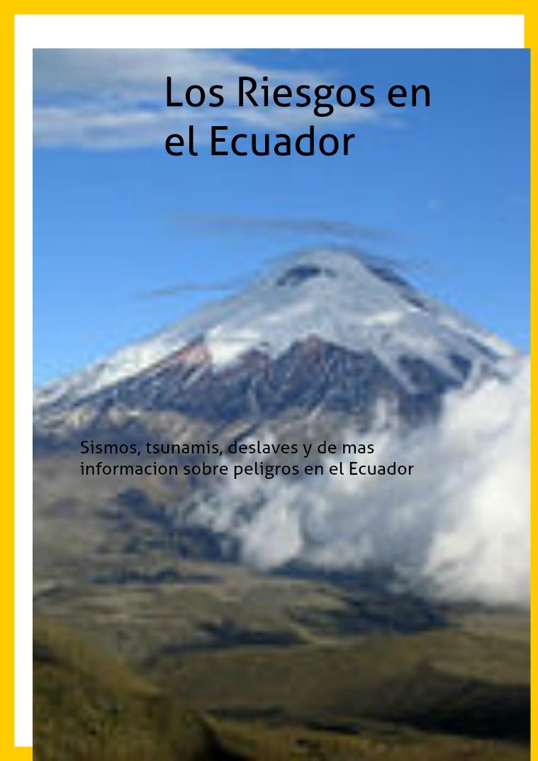 Riesgos en el Ecuador dotfhgnsrjhnatjna