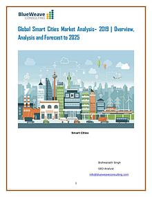 Global Smart Cities Market Analysis– 2019