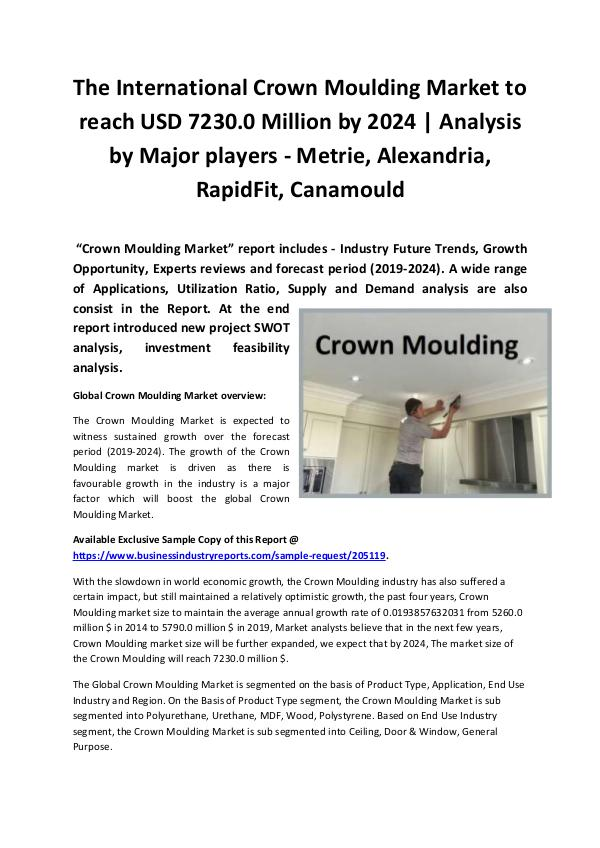 Global Crown Moulding Market