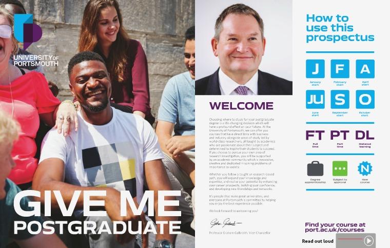 Postgraduate Prospectus 2020 Postgraduate Prospectus 2020