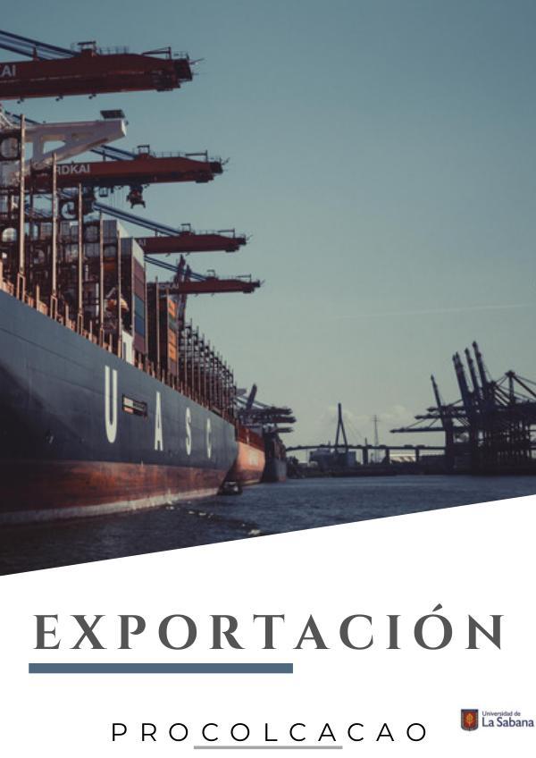Exportación Procolcacao Exportación Comercio
