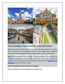 Visit Top Belgium Tourist Attractions with a Belgium Visa