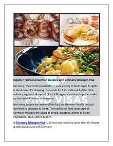 Explore Traditional German Cuisines with Germany Schengen Visa