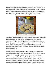HEMAT!!! +62-852-3610-0090 | Jual Kue Kering Lebaran Di Banjarnegara