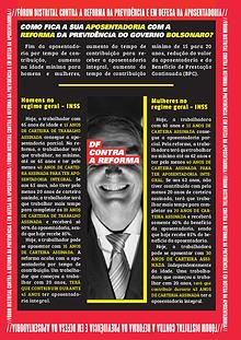 Jornal do Fórum Distrital Contra a Reforma da Previdência