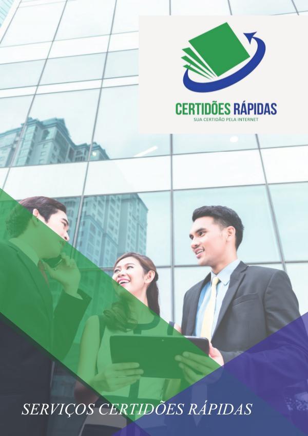 Serviços das Certidões Rápidas catalogo de serviçoes das certidões