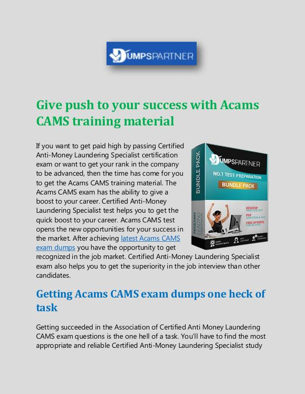 IT - Download CAMS Cheat Sheet with Up to Date Questions CAMS