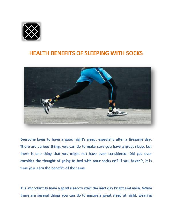 Health benefits of sleeping with socks