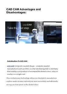 CAD CAM Advantages and Disadvantages