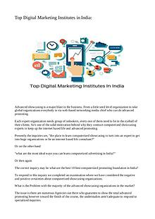 Top Digital Marketing Institutes in India