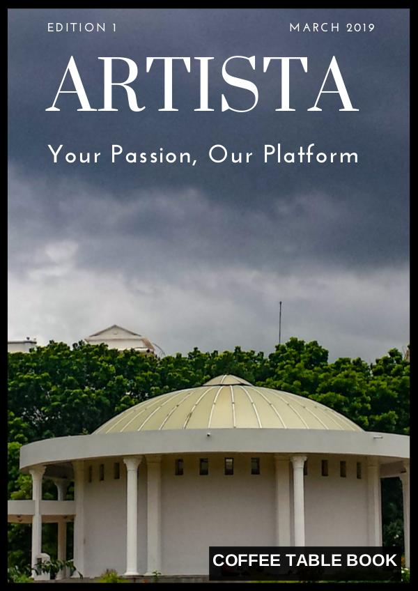 Artista Coffee Table Book Edition 1 Artista Coffee Table Book Edition 1