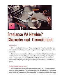 Freelance VA Newbie? Character and Commitment