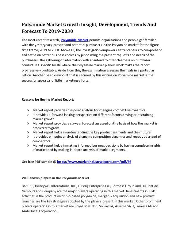 MIR Polyamide Market Growth Insight, Development