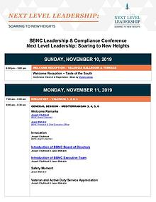 2019 Leadership & Compliance Conference Materials