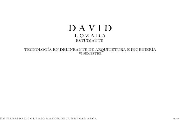 PORTAFOLIO - DAVID LOZADA PORTAFOLIO - HAROLD DAVID LOZADA BONILLA