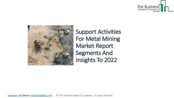 Support Activities For Coal Mining Market - Industry Analysis, Size, Support Activities For Metal Mining Market - Indus