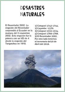 Riesgos en el Ecuador