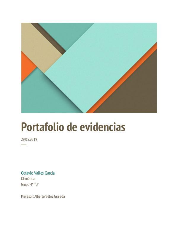 portafolio de evidencias Propuesta de proyecto