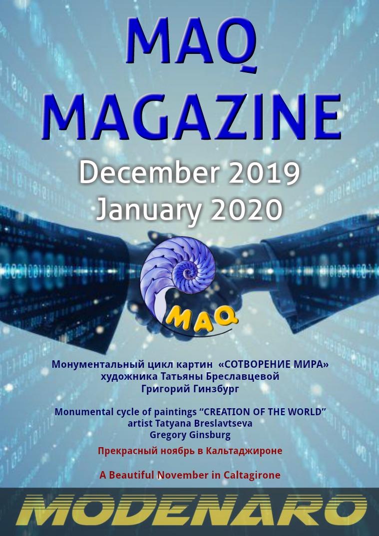 The magazine MAQ December 2019 January 2020