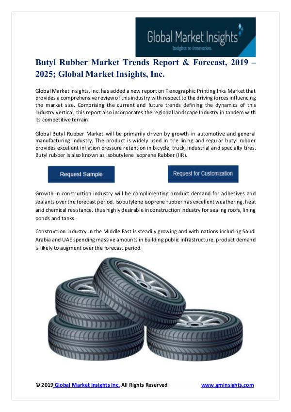 Packaging Industry Trends Butyl Rubber Market Trends Report & Forecast, 2019