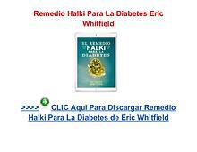 Remedio Halki Para La Diabetes PDF Libro
