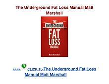 Matt Marshall: The Underground Fat Loss Manual pdf download