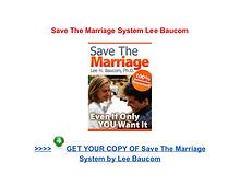 Save The Marriage System Lee Baucom pdf download