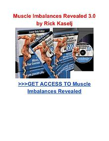 Rick Kaselj: Muscle Imbalances Revealed pdf download