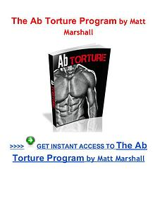 The Ab Torture Program Matt Marshall pdf download