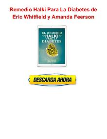 Remedio Halki Para La Diabetes Eric Whitfield