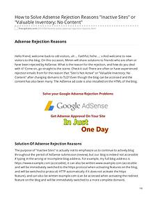 freeapksite.com-How to Solve Adsense Rejection Reasons Inactive Sites