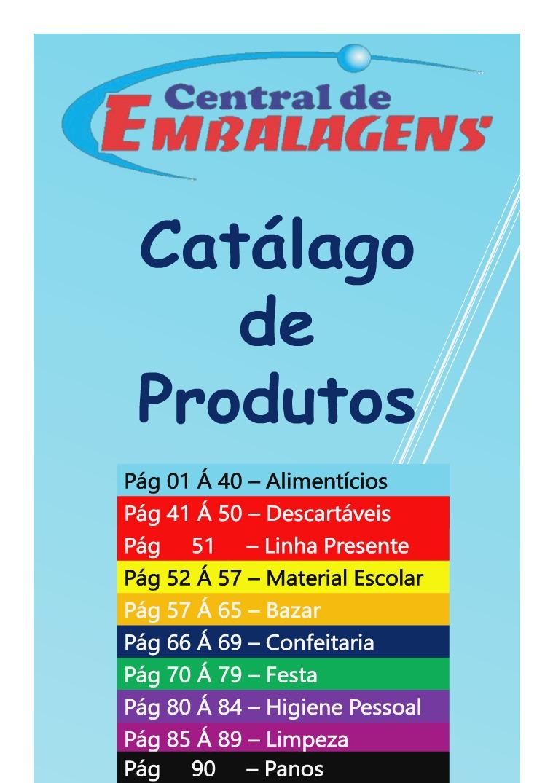 Catálago Central de Embalagens new