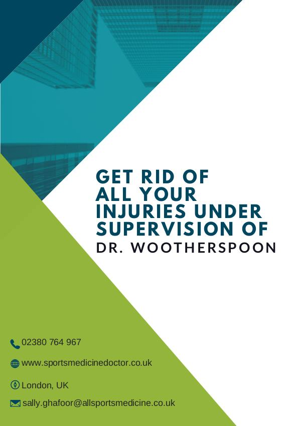 Sports Medicine Doctor Get Rid of All Your Injuries