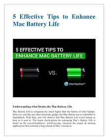 5 Effective Tips to Enhance Mac Battery Life
