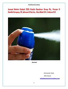 Global Aerosol Market Size,Trend and Forecast to 2025