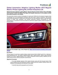 Global Automotive Adaptive Lighting Market 2019