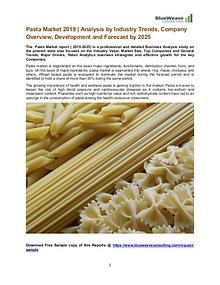 Pasta Market 2019 and Forecast to 2025