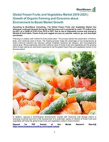 Global Frozen Fruits and Vegetables Market 2019-2025