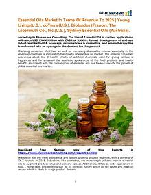 Essential Oils Market In Terms Of Revenue To 2025 |